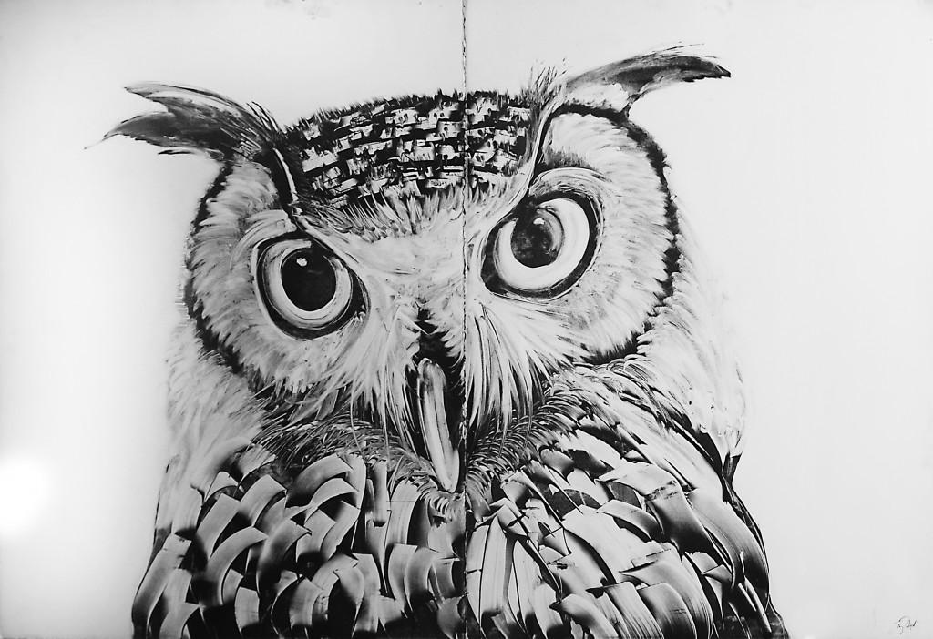 Owl-head-print